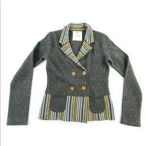 Anthropologie Sparrow Wool Cardigan Blazer